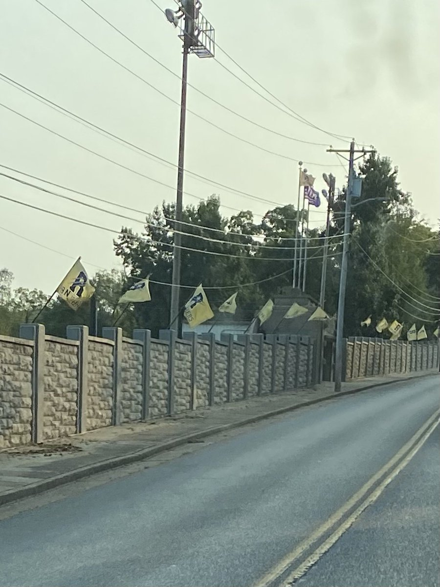 Game Day flags flying early this morning #WeR #GobigP #panthers https://t.co/0DSPvTRNOq
