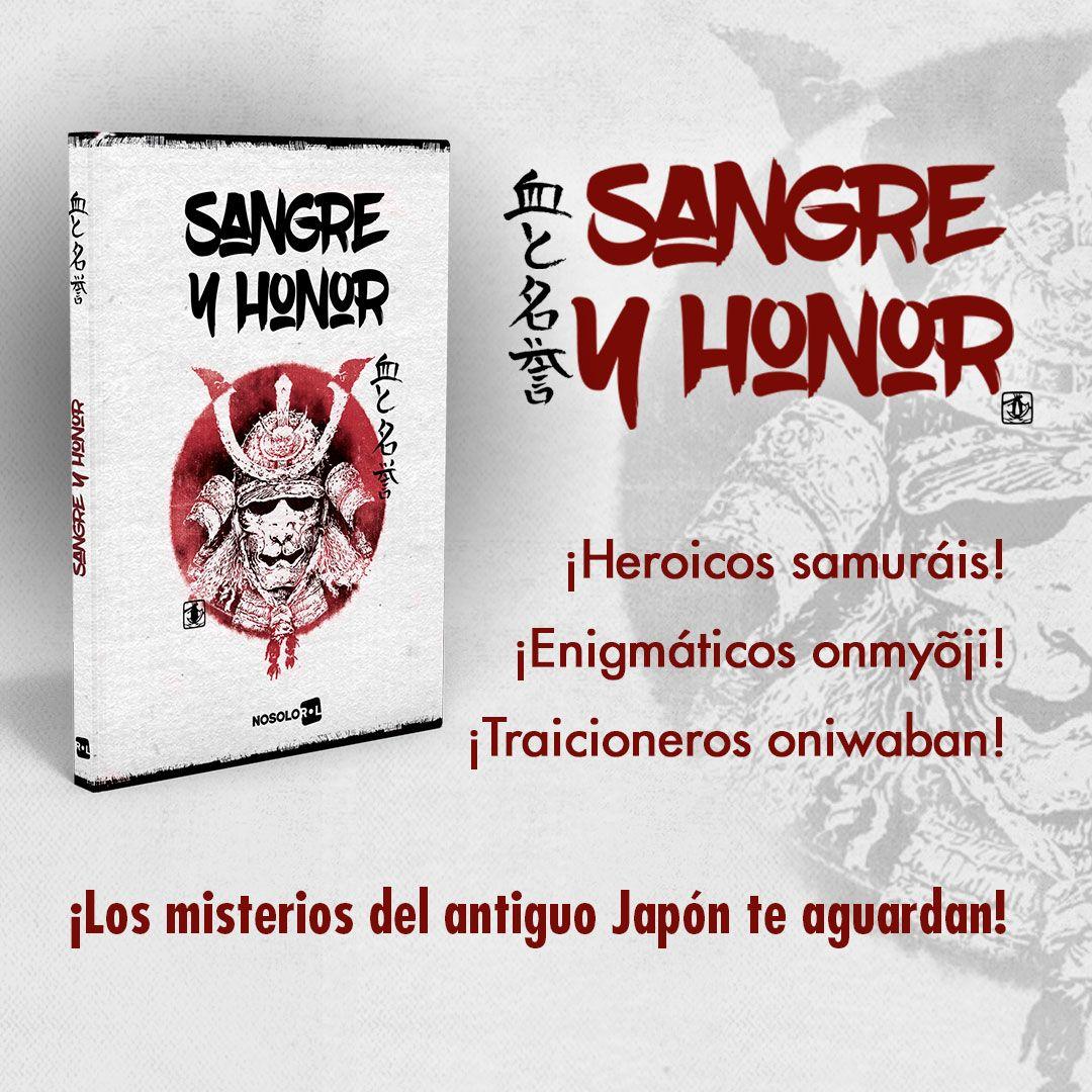 Sangre y Honor. ¡Heroicos samuráis! ¡Enigmáticos onmyõji! ¡Traicioneros oniwaban! ¡Los misterios del antiguo Japón te aguardan!  🎲 https://t.co/7QwmTUMNKQ   #SéQuienTúQuieras #Rol #MuchoRol #TTRPG #JuegosDeRol #Jugar #Ocio #Games #TabletopGames #RoleplayingGames #PenAndPaper https://t.co/rK8HOS2jt8