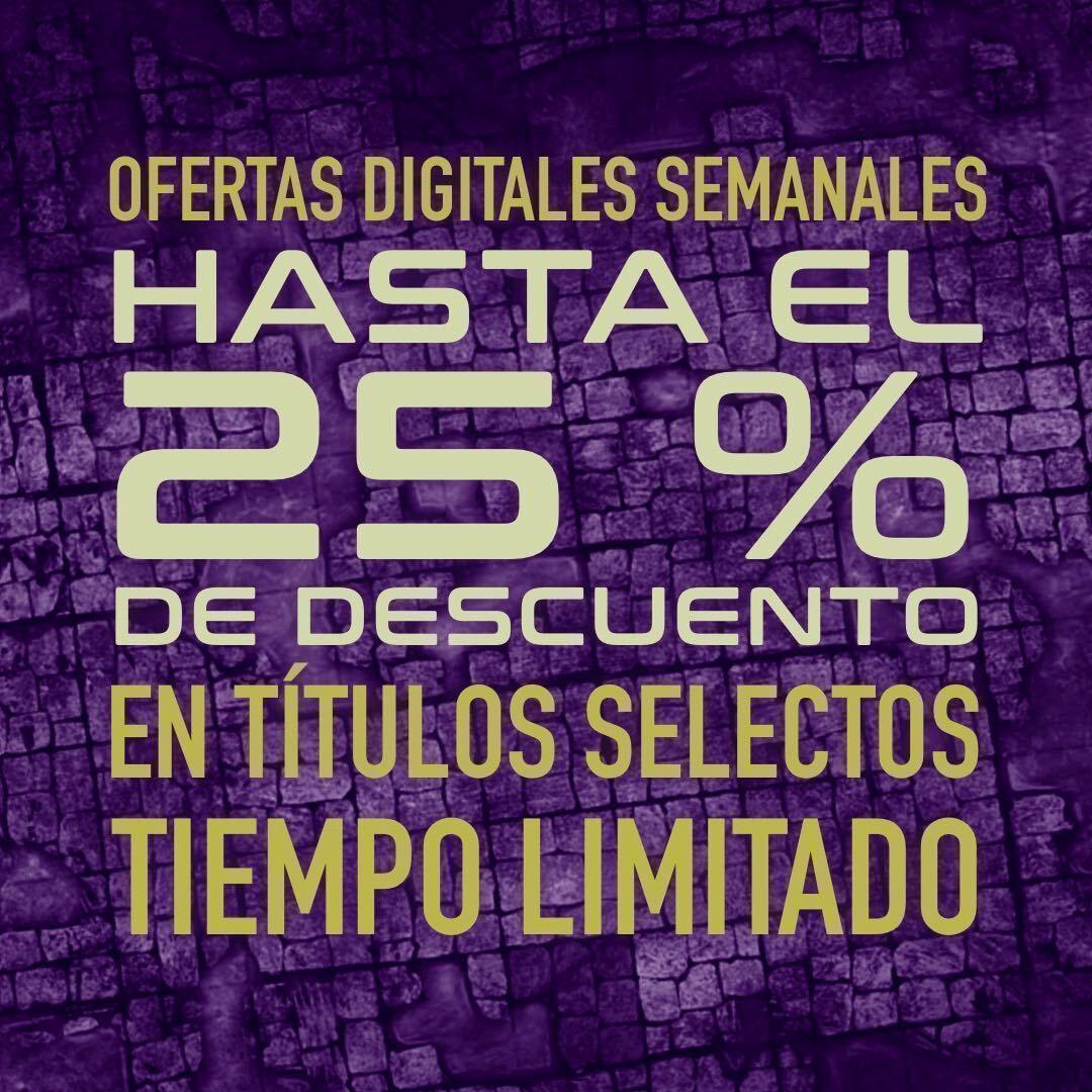 Esta semana te proponemos ocho títulos con descuentos de hasta el 25 % ¿Qué falta en tu biblioteca digital?  🎲 https://t.co/6U90sucLd1  #OfertasRol #RolDigital #Rol #MuchoRol #RPG #JuegosDeRol #Ocio #Games #Jugar https://t.co/NgSbsQhX72