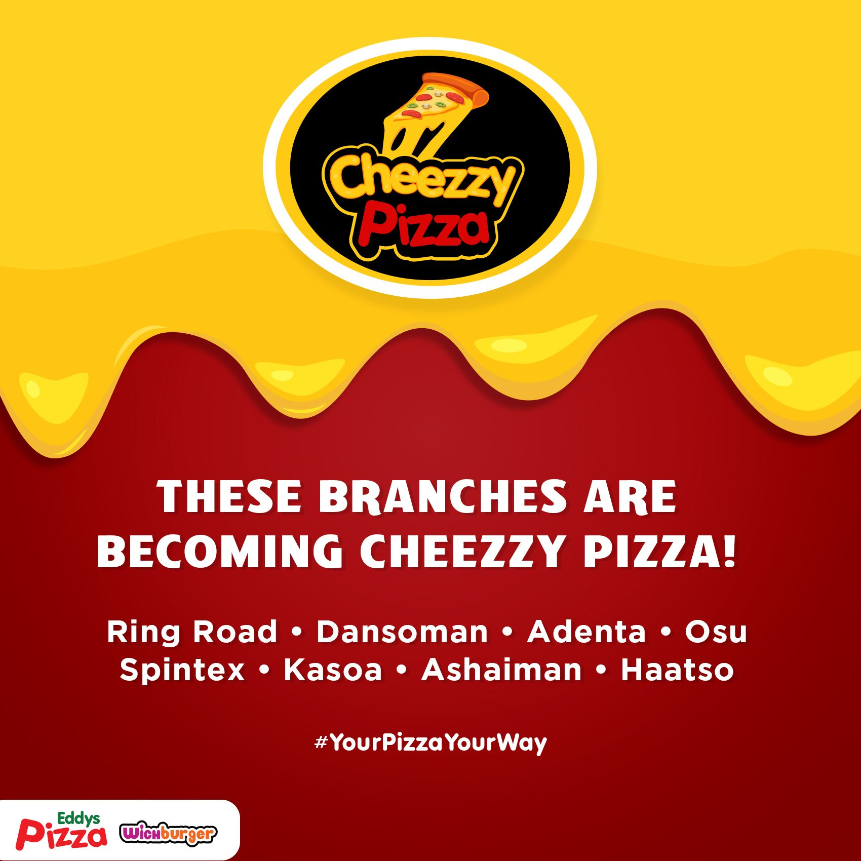 Cheezzy Pizza Branches