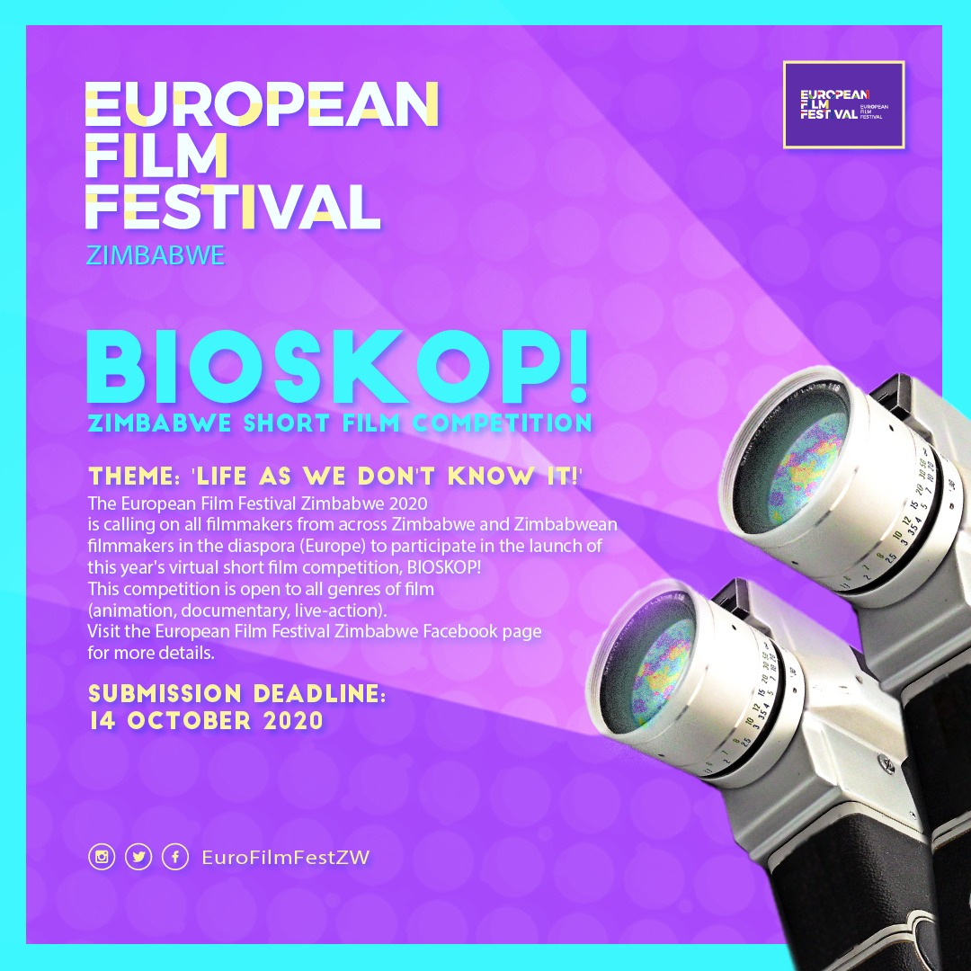 CALL FOR FILMMAKERS: The @EuroFilmFestZW is calling on filmmakers from across #Zimbabwe & Zimbabweans in the diaspora (Europe) to participate in the launch of this year's virtual short film competition, BIOSKOP!