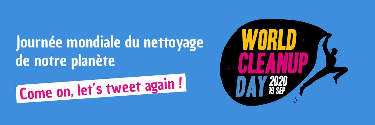 ♻ Demain, c'est le #WorldCleanupDay ! Pour connaître l'ensemble des #CleanUp organisés pour nettoyer notre belle planète, près de chez vous cliquez ici : worldcleanupday.fr#jagispourmaplanete #worldcleanupdayfrance #WCUD2020 @WCUDFrance https://t.co/BQzj3dEf9G