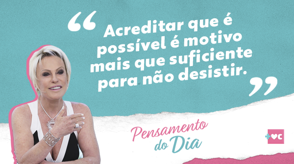 Acredite! ✨ #PensamentoDoDia #MaisVocê https://t.co/aSppWH7p9K