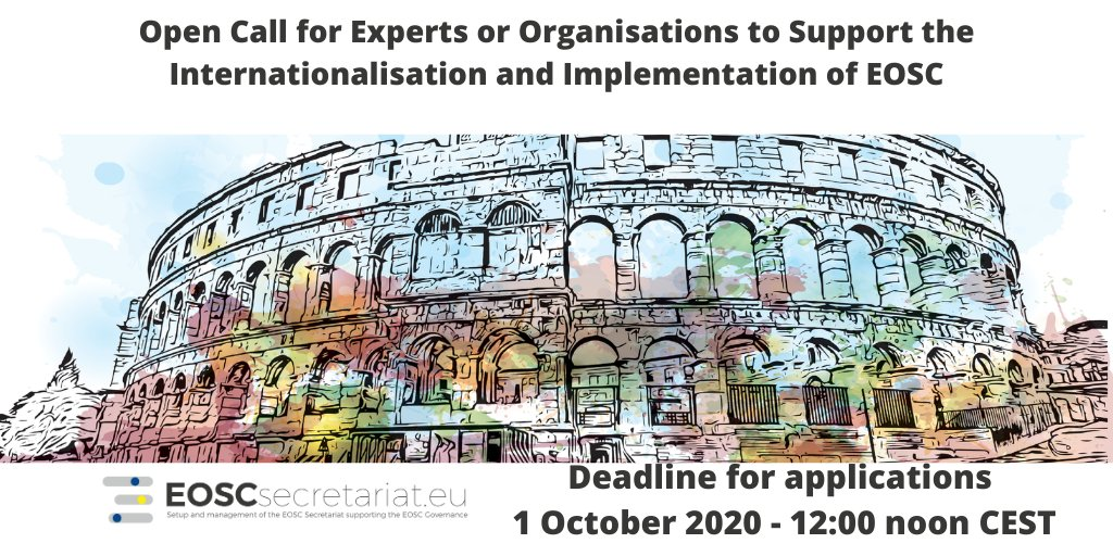 NEW OPEN CALL for #experts or #organisations to support the #internationalisation and #implementation of #EOSC! 🌐🧑🔬👩🔬  Read more and apply here:  https://t.co/aJjVjv8OUK  #funding #research #openscience #FAIRdata #EOSCassociation https://t.co/pOIR1DkeQI
