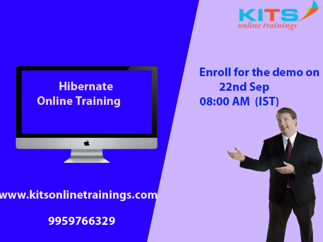 #Kits Online Trainings invites you to enroll for the free demo session on #hibernate by live industry experts on 22nd Sep 08:00AM (IST) https://t.co/y9RuOpYTjH #hibernate #java #spring #hibernatetraining #advancedjava #Kits Email : kitsonlinetrainings@gmail.com phone: 9959766329 https://t.co/kDSBB5BVLL