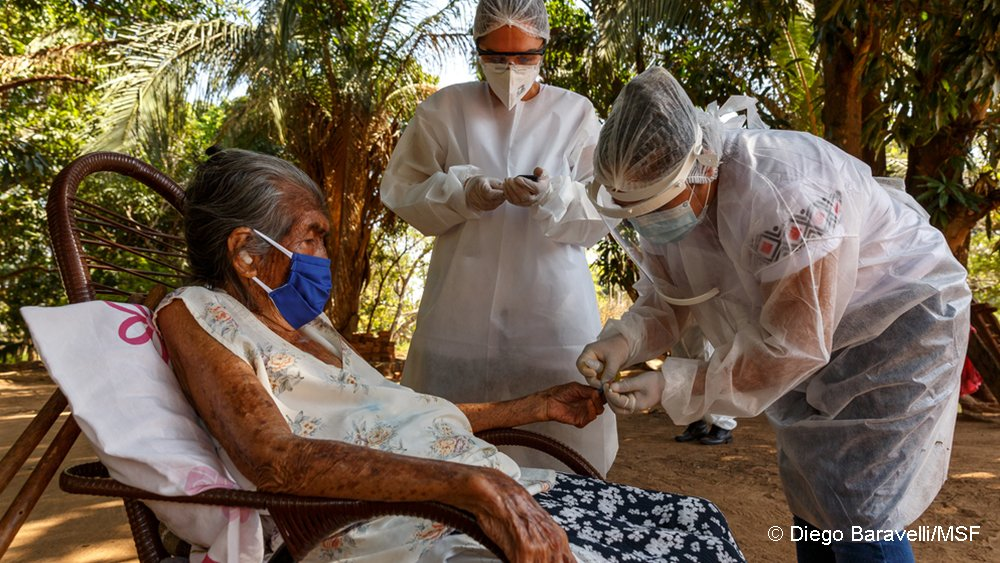 Mato Grosso do Sul is home to indigenous communities disproportionately affected by the pandemic.   With few doctors in the central Brazilian state, there is often no one to identify when a person with worsening symptoms needs hospital care. https://t.co/TQeu4qNwSC https://t.co/Q7Drg1XNSR