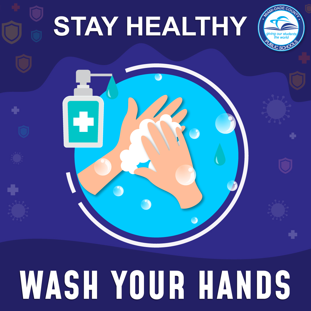 Do your part to help stop the spread of #COVID19 and other viruses! Wash your hands with soap and water frequently. #MDCPSwellness #MDCPSReopening https://t.co/7CcuXO2MV0