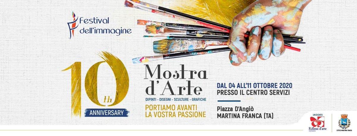 """🖼 Mostra d'#arte per artisti amatori e professionisti (#DIPINTI, #DISEGNI, #SCULTURE, #GRAFICHE). Un evento organizzato dell'associazione di Promozione Sociale """"RIFLESSI D'ARTE"""" con sede a Martina Franca (TA) via Bellini 77.  🖌  https://t.co/tB9gcpWg3p  #WeAreinPuglia #puglia https://t.co/ttMBJeUd4T"""