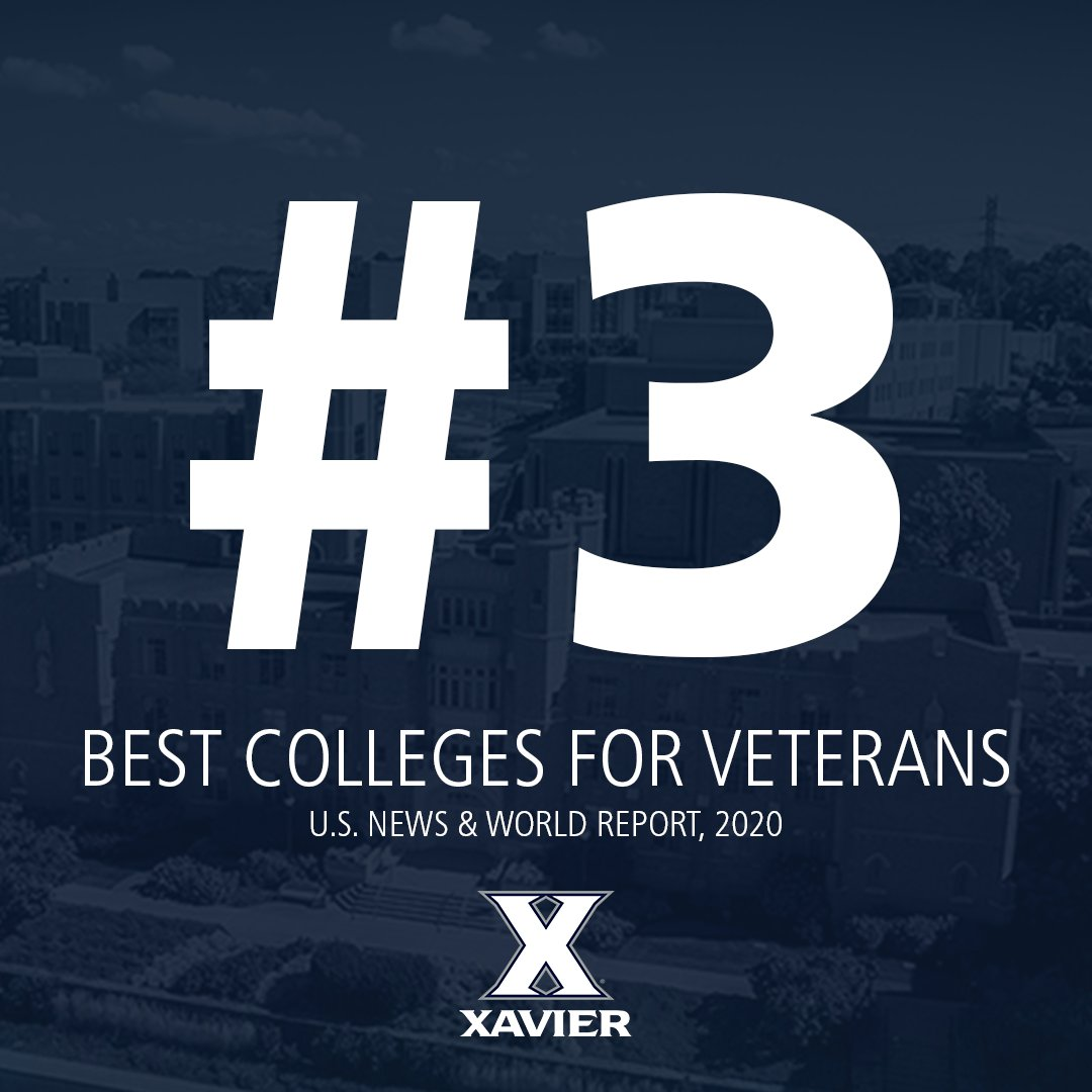 Proud to rank among the very best for our veterans and undergraduate teaching. 💙⚔️ MORE: xavier.edu/now/2020/us-ne…