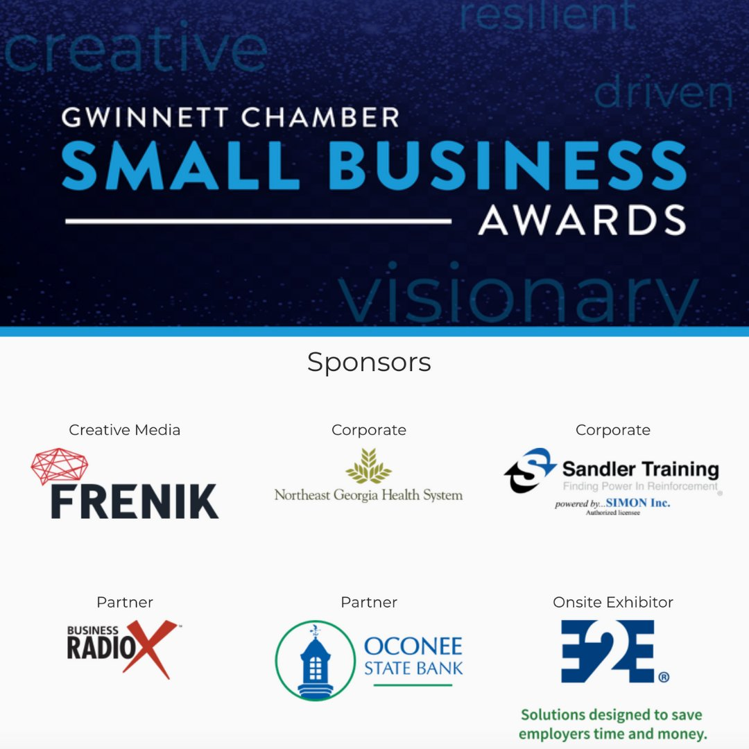 We are proud to be a sponsor for the Gwinnett Chamber of Commerce Small Business Awards.  We hope you join us for the event in Nov. https://t.co/XiDupMhh1h   #fridayfeels  #atl https://t.co/Gg9yyFhDfr