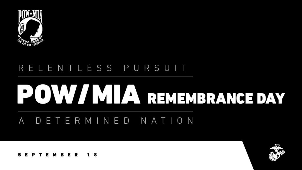 You Are Not Forgotten On this #POWMIARecognitionDay, the Marine Corps honors those who were prisoners of war and our absent heroes – the more than 81,900 Americans who remain missing.