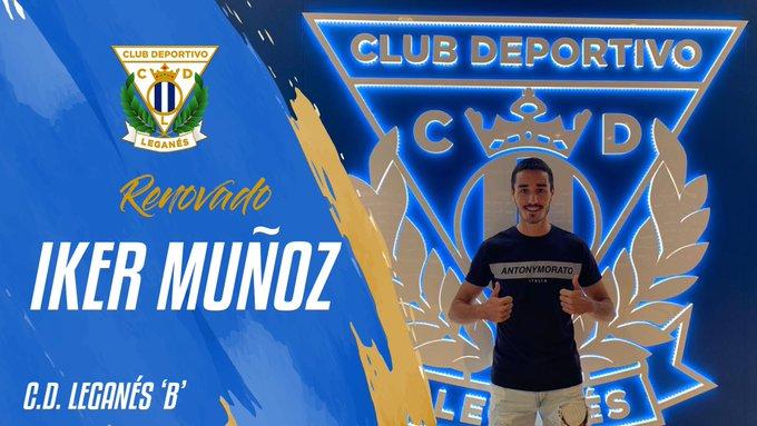 ✅ RENOVADO | El C.D. Leganés 'B' renueva al extremo Iker Muñoz.➡️