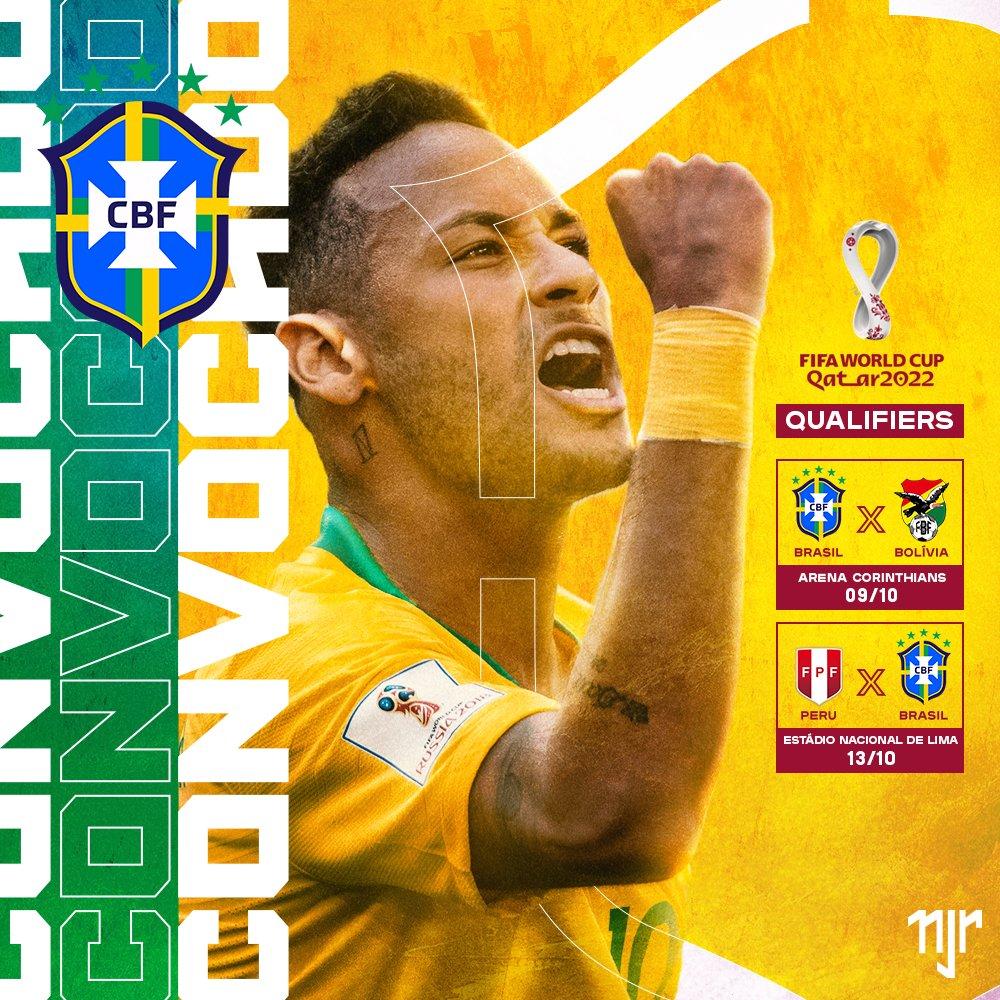 Olha só quem vai vestir a amarelinha novamente! 🇧🇷  Neymar Jr will wear the Brazilian National jersey again 🇧🇷  #Neymar #NeymarJr #NJr #Futebol #Football #neymarfans #neymarskills #brasil #brazil #seleçãobrasileira #eliminatorias https://t.co/VBMvtY8Kh4