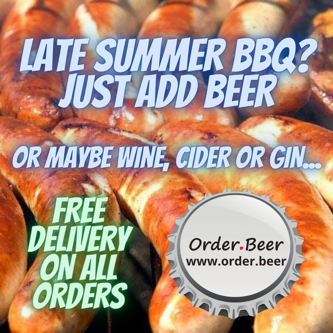 Late Summer #BBQs on the cards. Grab yourself a banger of a #deal with https://t.co/OthfqpqH4m. Make the most of the weather over the next week. Just add #beer (or #cider, #wine and #gin and more). https://t.co/CexcXpJiYT Don't forget our free delivery. https://t.co/WV2ocSRpjn