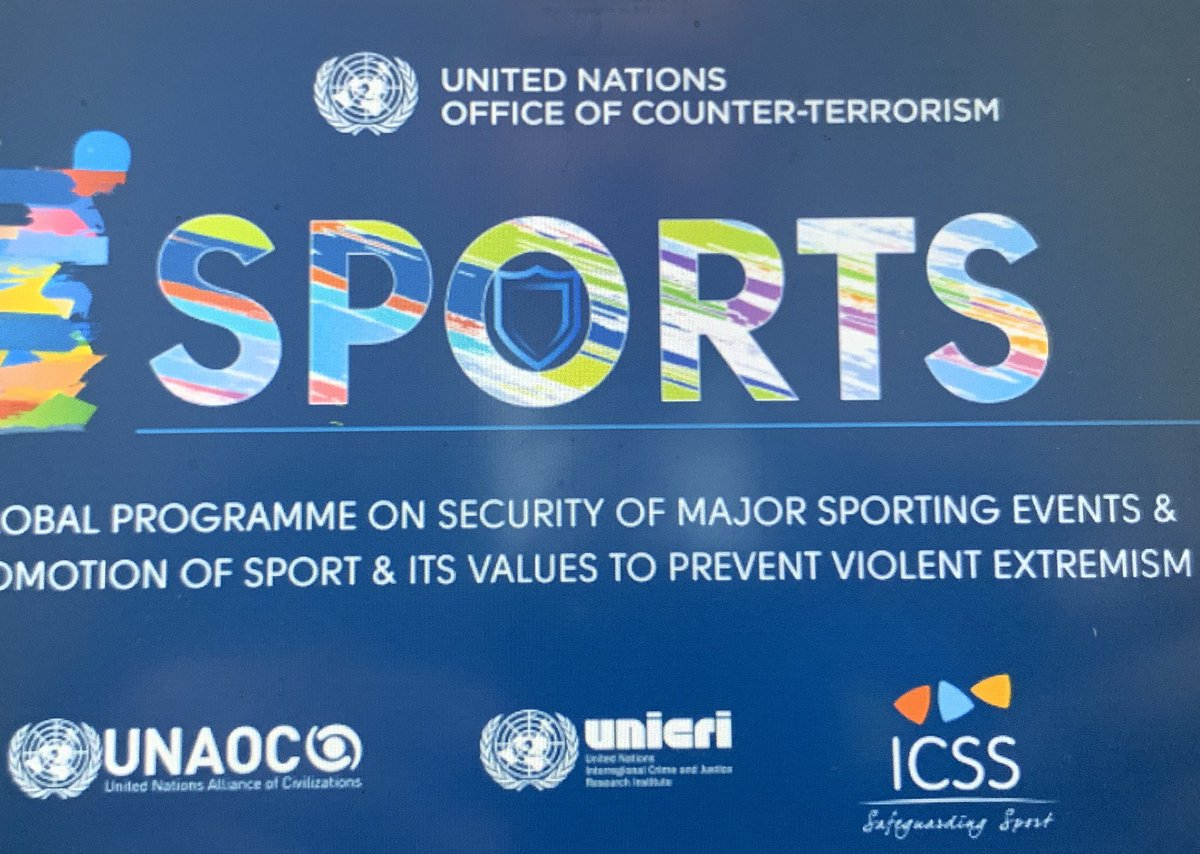 Norway🇳🇴 is a strong supporter of the important work of UN Office of Counter-Terrorism #UNOCT.   At today's meeting on Global Programme on Security of Major Sporting Events & its values to prevent violent extremism, we focus on importance of cross cutting work and multilateralism https://t.co/ZWyHlt7gap