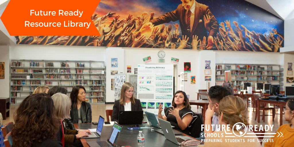 """The #FutureReady Resource Library is a collection of curated content aligned to the FRS framework & includes items such as """"Does My Collection Reflect My Community?"""" """"Inclusive Tech During the COVID Crisis,"""" & """"Identifying Socially Vulnerable Groups."""" https://t.co/FgRhaCQZ3d https://t.co/duZEjV1zuK"""