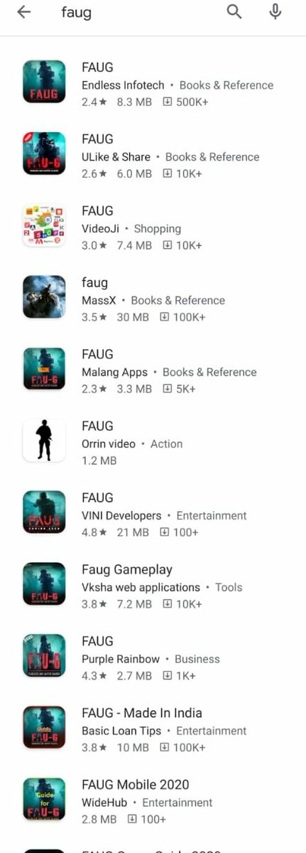 Since @Google is concerned about the sanity of the appstore it will be great if they can remove all the fake FAU-G Game apps @nCore_games from its store before taking down  @Paytm used & loved by millions  @vijayshekhar