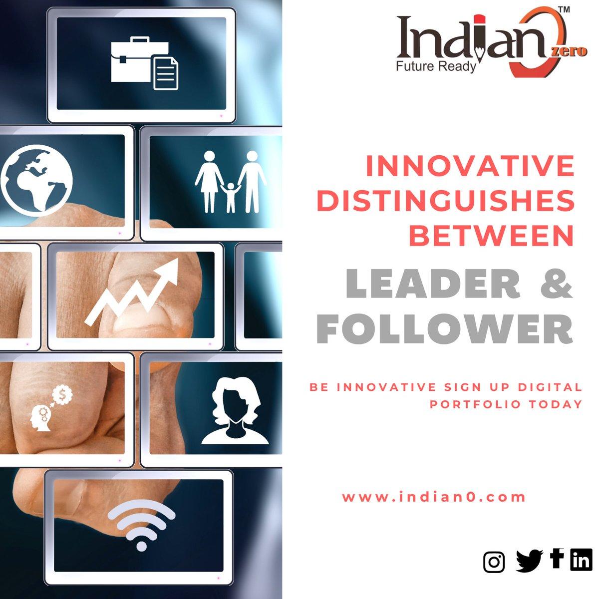 Be Innovative Sign up for Digital Portfolio Today.  Sign up for your Digital Portfolio https://t.co/l97MiBGZJ7 #VoiceofIndian0 #DigitalPortfolio #Indian0 I am game I am #FutureReady with #Indian0 @TheIndian0 https://t.co/UmoIJPfCLA