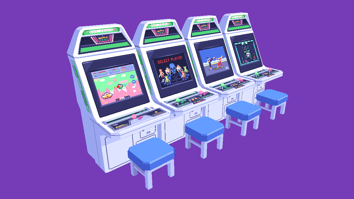 sega astro city cabs lowpoly <3 had fun making these #sega #astrocity #lowpoly #3d #crocotile #pixelart https://t.co/25tSyWG04N