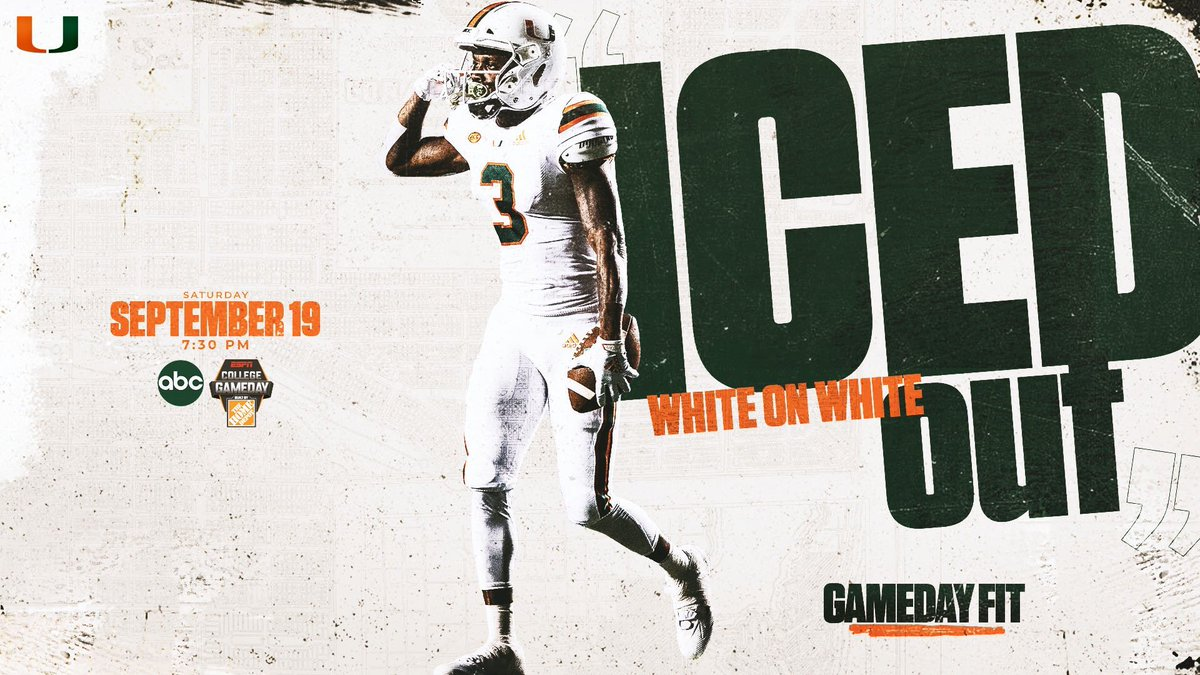 The iced out combo for @CanesFootball #uniswag