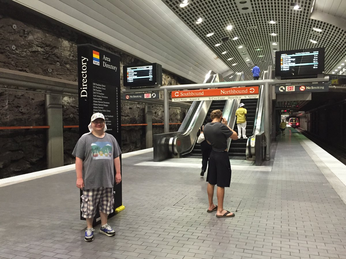In late July 2015, My Dad & I went on a trip to Atlanta, Georgia. We flew from New York and we got to do a lot of things down in Georgia. Here I am at one of Atlanta's underground subway stations. Georgia > New York in my opinion! #Atlanta #Georgia #ATL #GA https://t.co/1ojewxQ7HV