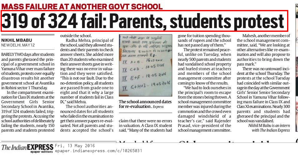 @AAPUttarakhand Sixty-six per cent of students in classes IX to XII of  Delhi government schools  who failed in 2017-18 have now gone out of the formal schooling system. Out of a total of 1,55,436 students who failed, only 52,582 were readmitted in the same class.  #AAPfails #Delhi #Uttarakhand https://t.co/jaLhLhsy5M
