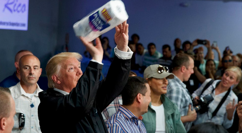 @johnrobertsFox @FoxNews @realDonaldTrump That's an interesting change of heart. Trump was angry before that Puerto Ricans weren't grateful when he threw them a roll of paper towels! Trump hasn't lifted a finger to help them in the past 3 years. Now he's interested... less than 2 months before the election? https://t.co/2yxXartS8G