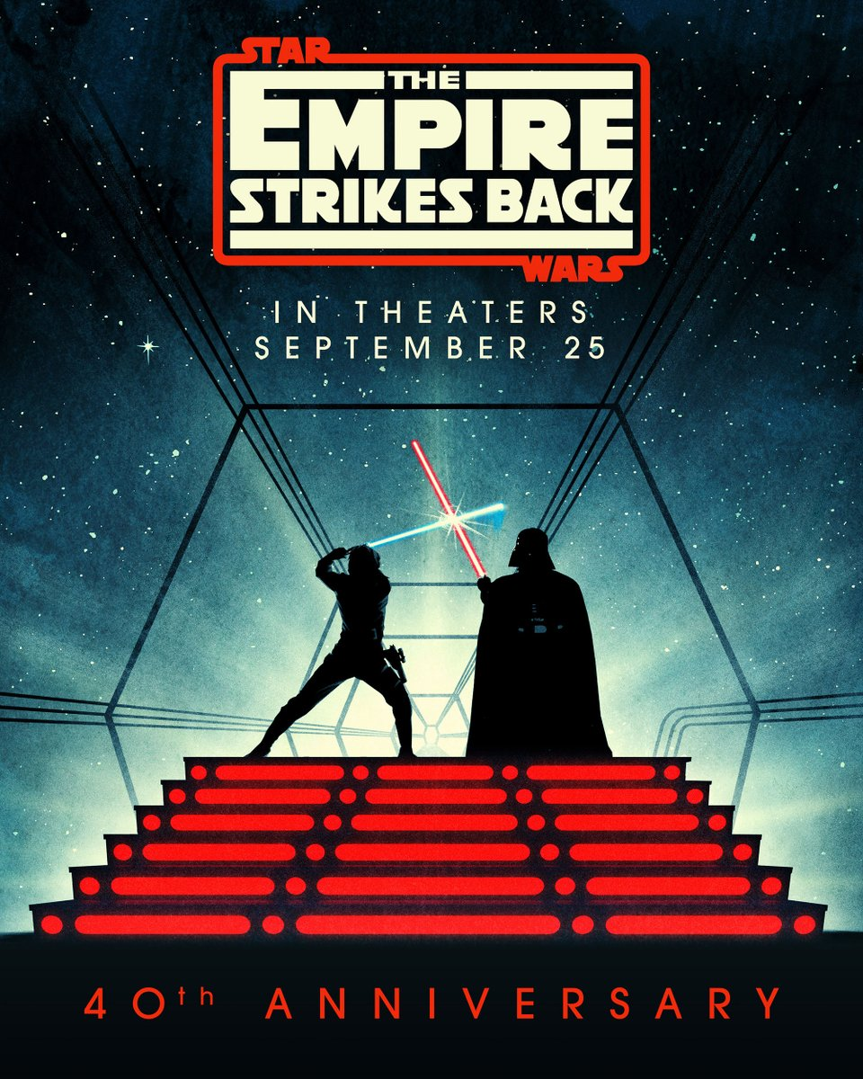 The Empire Strikes Back in theaters on September 25! See showtimes and celebrate the 40th anniversary: https://t.co/W1jQyLxmrh https://t.co/9f5rYTeEgV