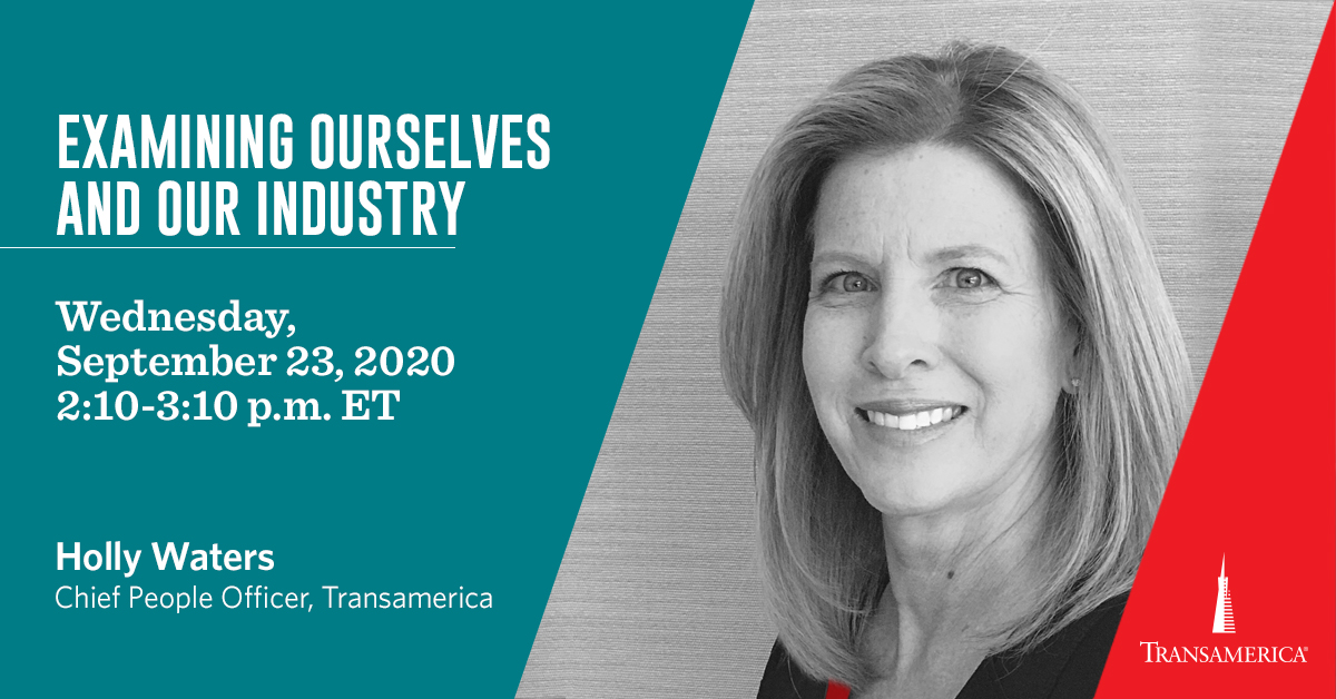 We are all taking another look at diversity, equity, and inclusion. Listen in on this panel featuring HR leaders from around the industry, including Transamerica's own Holly Waters. Click to register here:  https://t.co/H03fDiRZ8H https://t.co/KjCohpwKmr