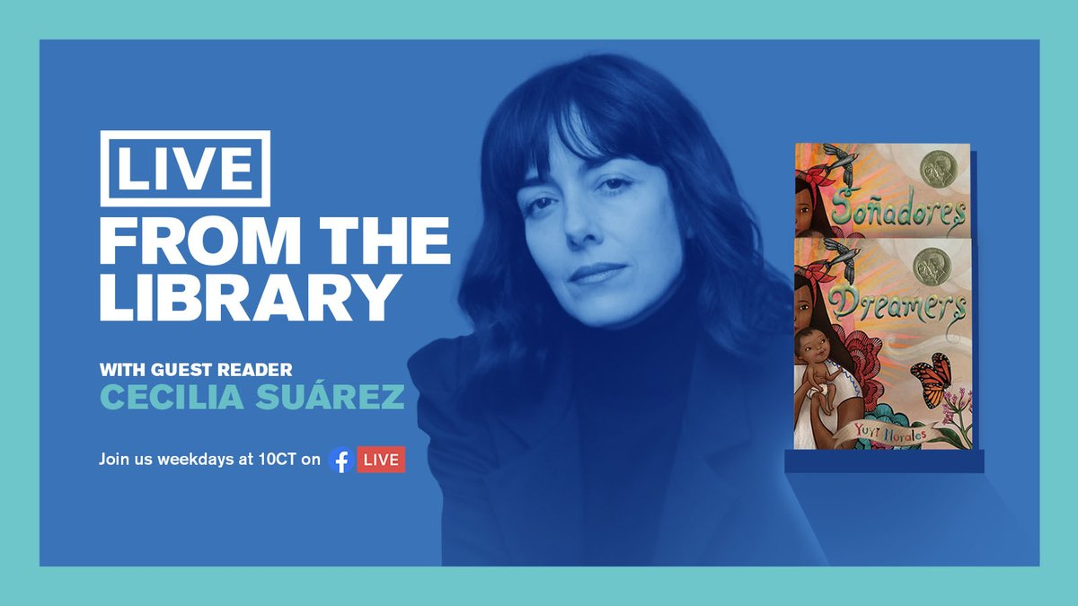 Actress @CeciliaSuarezOF helps continue our celebration of #LatinxHeritageMonth on #LiveFromTheLibrary! The @SteppenwolfThtr actress was the first Spanish-speaking actress to be nominated for an Emmy. Check out her reading of @yuyimorales Dreamers/Soñadores Monday at 10 AM. https://t.co/zWeBBRahX8