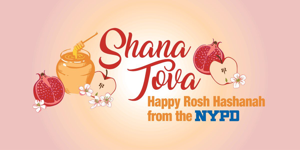 Wishing everyone a happy Rosh Hashanah from the men and women of the NYPD Transit Bureau! https://t.co/PeTPYOWkzB