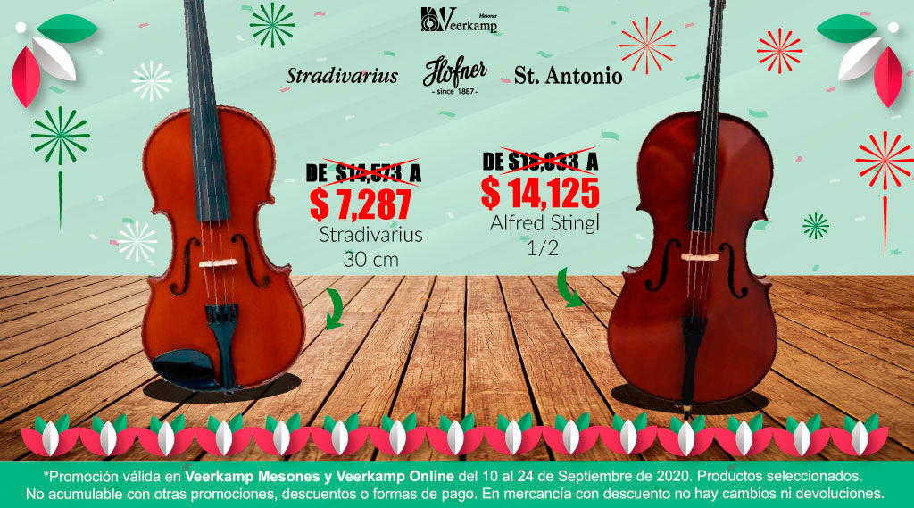 🚨 ¡Se acaba el tiempo! Adquiere tu nuevo violín a un increíble precio! 🎻  👉 Consulta los productos participantes 💸   📌 Disponible en Veerkamp Mesones y Veerkamp online: https://t.co/kQiNmvgwMG   📅 Promoción válida hasta el 24 de septiembre. https://t.co/bKz4VqlKLU