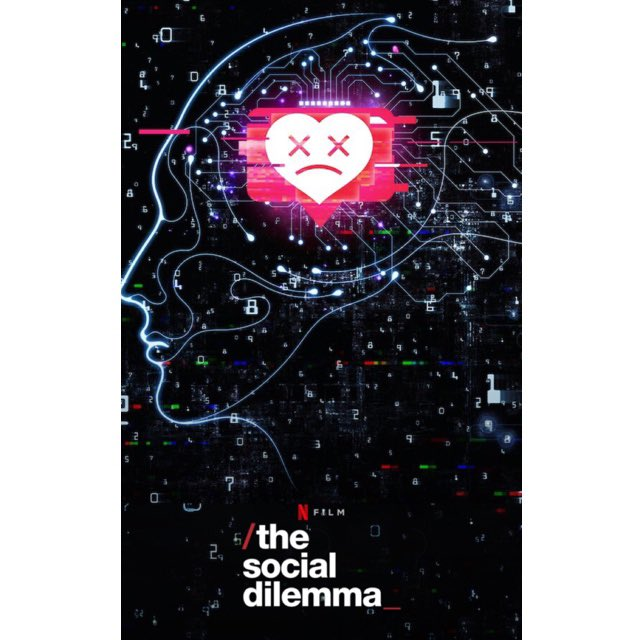 Some thoughts on the @Netflix doc #SocialDilemma. If you haven't watched it, do yourself a solid and watch it tonight.