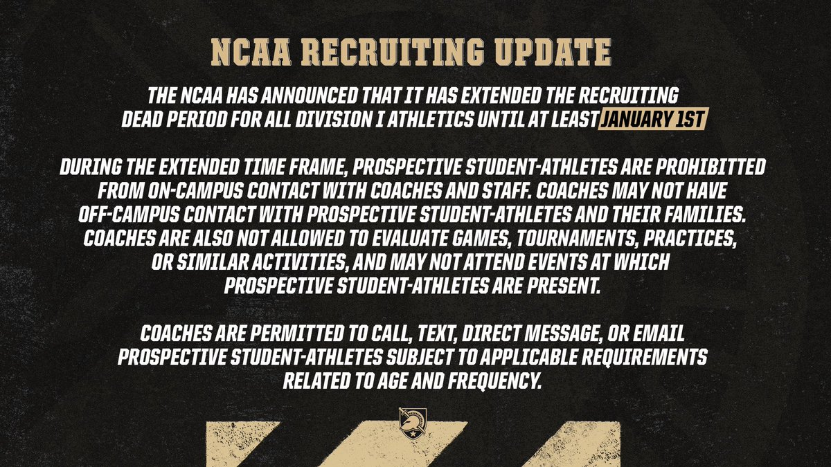 An update for all you future Black Knights 🚨⬇️ https://t.co/GFCdWWDaHs