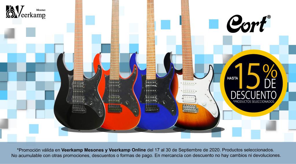 🚨 ¿Buscas una nueva guitarra eléctrica  @Cort_Guitars? 🤩   👉¡Por tiempo limitado tienen hasta el 15% de descuento! 💸  📌 Disponible en Veerkamp Mesones y Veerkamp online:  https://t.co/buFcD6XeZn   📅 Promoción válida hasta el 30 de septiembre. https://t.co/rSh0bOciuq