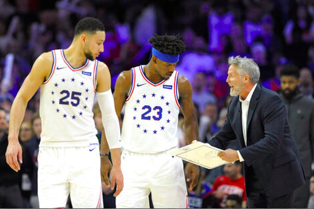 """""""Brett Brown wanted no part of coaching Butler again. He went as far as calling certain players to voice his concern and to get them on his side. Some in Ben Simmons' camp also didn't want Butler back. Neither did a lot of the coaches.""""  - @PompeyOnSixers https://t.co/N2t1sFBHaX"""