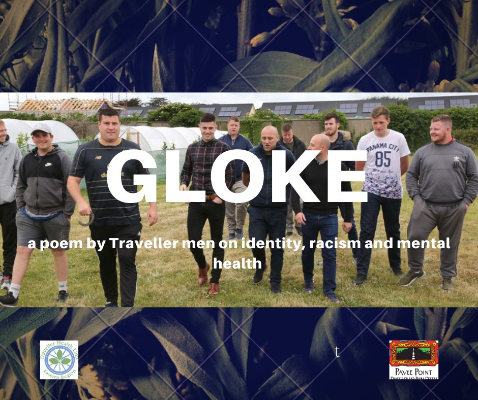 Just 10 minutes to go before video premiere of 'Gloke' a poem by #Traveller men on identity, racism and mental health https://t.co/FMKanDn2rL #CultureNight2020 https://t.co/iA9QHsGkkh