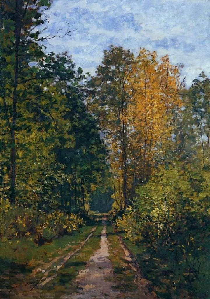 Claude Monet, Wooded Path, 1865 Private collection #claudemonet #woodedpath #frenchpainter #impressionism #impressionist #impressionistpainter #art #artist #arthistory #apaintingaday #museumathome #museumfromhome #onlinemuseum #virtualmuseum  #virtualcollection #painter #painting https://t.co/nvomI6gkYm