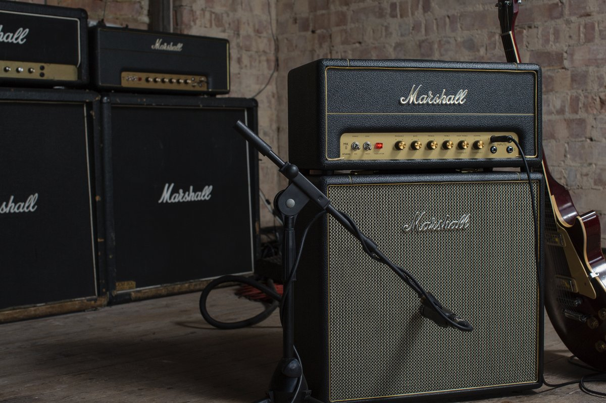 The Studio Series captures all those classic Marshall tones in a portable unit. 🤘  Find out more: https://t.co/6kiOiTAZKc   #liveformusic https://t.co/uDv5OhqjmZ