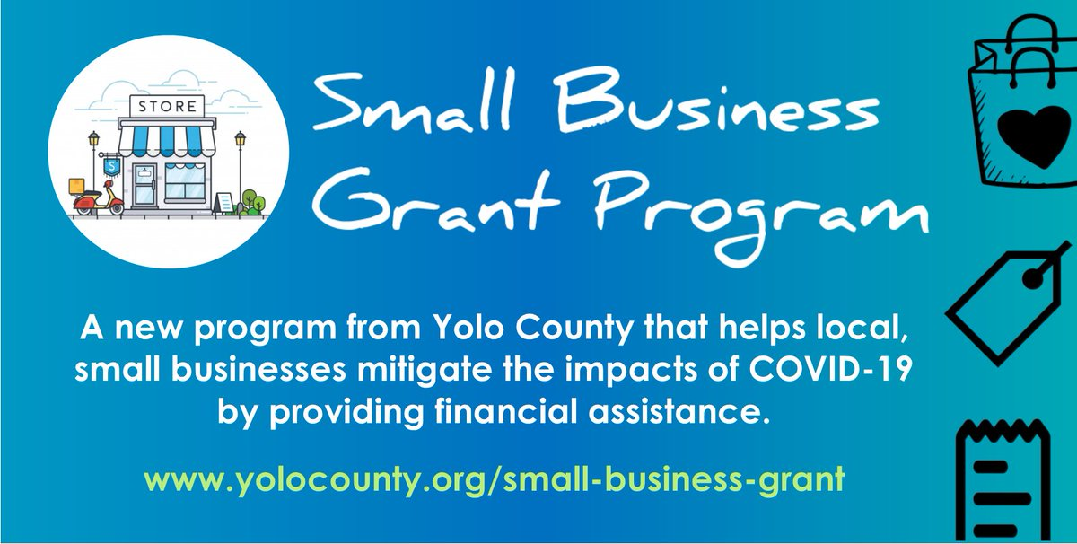 Check this out, Yolo County! #GrantAlert #SmallBusiness https://t.co/0oGFNMbvy7