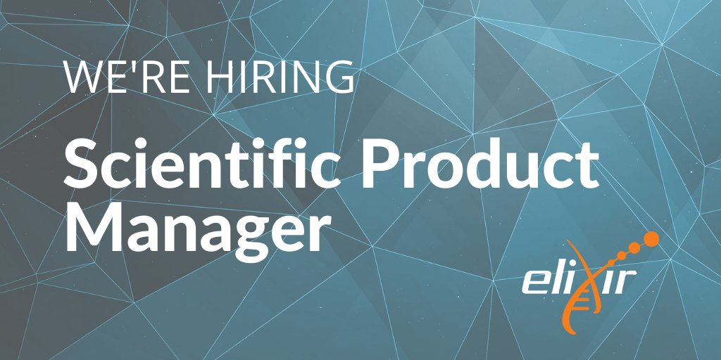We are hiring a Scientific Product Manager to join the ELIXIR Hub, based on the beautiful @wellcomegenome campus. You'll be supporting the delivery of key infrastructure projects within ELIXIR Human Data Communities. https://t.co/yenMqBEWyf  Deadline: 20 Sep 2020 https://t.co/AZufbU0sc4