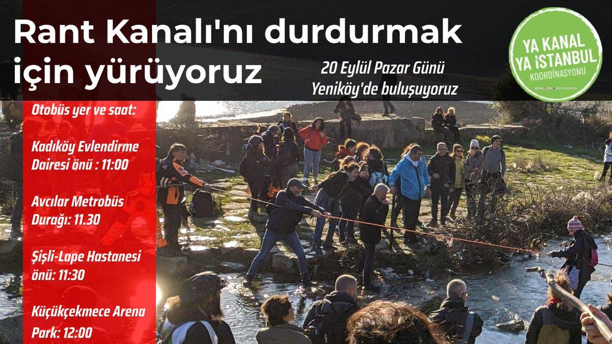 İstanbul'u seven herkesi bekliyoruz.   Yaşamı savunmak için 20 Eylül Pazar günü Yeniköy'den Karaburun'a yürüyoruz.   Otobüslerle irtibat için:  Kadıköy 05456857095  Şişli 05432169919  Avcılar 05050879576  Küçükçekmece 05050879576  Katılım formu: https://t.co/bSQskS5fCM https://t.co/7rOrxUTvFV