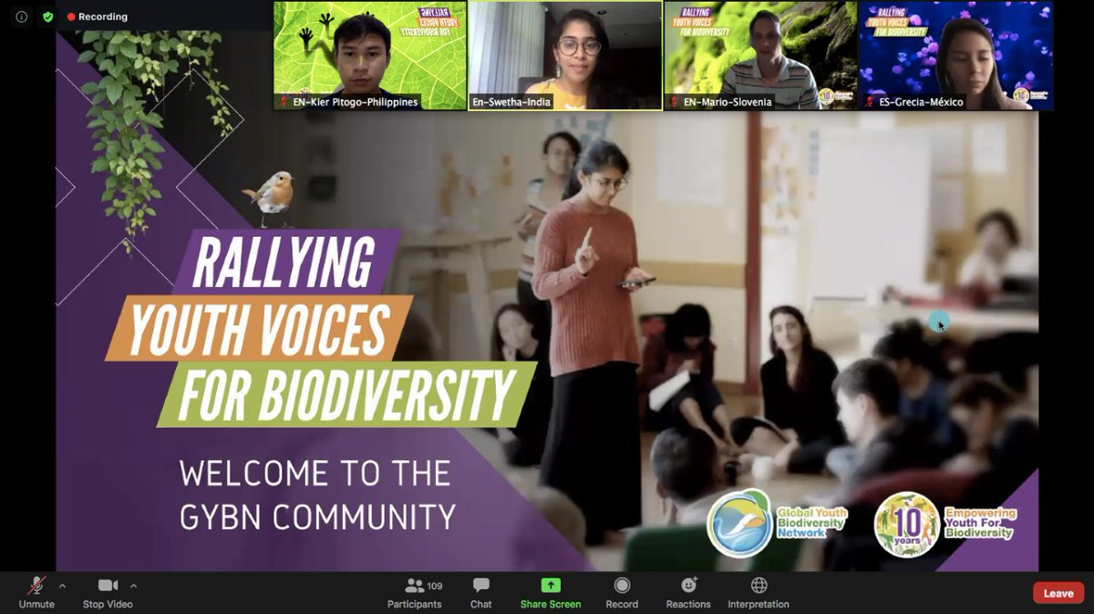 Today marks the beginning of our Online Capacity Building Training sessions! Shoutout to all the young people participating so we can come together for biodiversity!  Thank you for the messages from @mremae of @UNBiodiversity & Robert Spaull of @IPBES! #GYBN #Biodiversity2020 https://t.co/L9pcVuGnE9