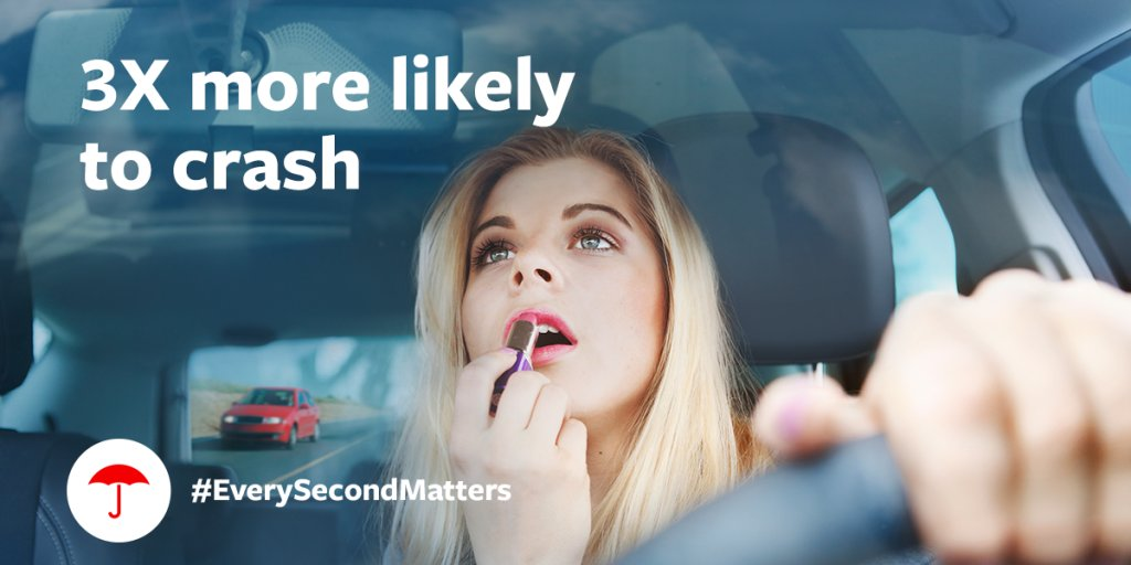 Learn how much #distracteddriving puts you and others on the road at risk, with this infographic from #Travelers. #EverySecondMatters https://t.co/7Y8iCpx91W https://t.co/KHZKAHXlbM