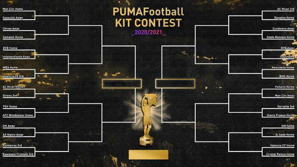 ⚠️ PUMA KIT CONTEST #2 ⚠️  The draw has just been done!  First round ➡️ Tomorrow.   Who you got? ⬇️ ⬇️ ⬇️ https://t.co/qF2cAIj25h