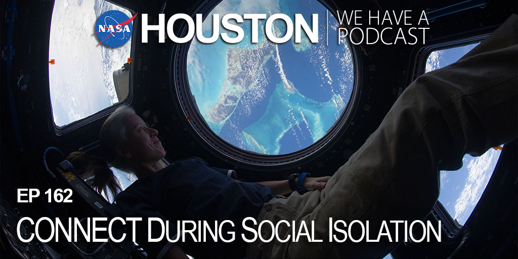 """Even on long-duration missions while isolated from Earth, @NASA_Astronauts still """"CONNECT"""" while confined in a spacecraft or on the @space_station. We learn how this method works for those of us here on Earth on this week's """"Houston, We Have a Podcast."""" nasa.gov/johnson/HWHAP/…"""