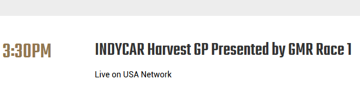 Hmm is this a new #IndyCar Network Deal for the upcoming #HarvestGP ?  @IndyCar  #IMS @IMS  | #RaceRemote https://t.co/emYAhndGD7 https://t.co/LCJgzGUdPk