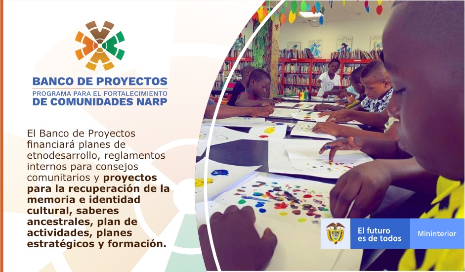 El #BancoDeProyectosAfro fortalecerá el Espacio Nacional de Consulta Previa, las Comisiones Consultivas Departamentales y la de Alto Nivel, la Comisión Pedagógica Nacional y la Junta de Estudiantes Afrocolombianos beneficiarios del Fondo de Créditos Condonables. @AliciaArango https://t.co/YgQi1rh1ob