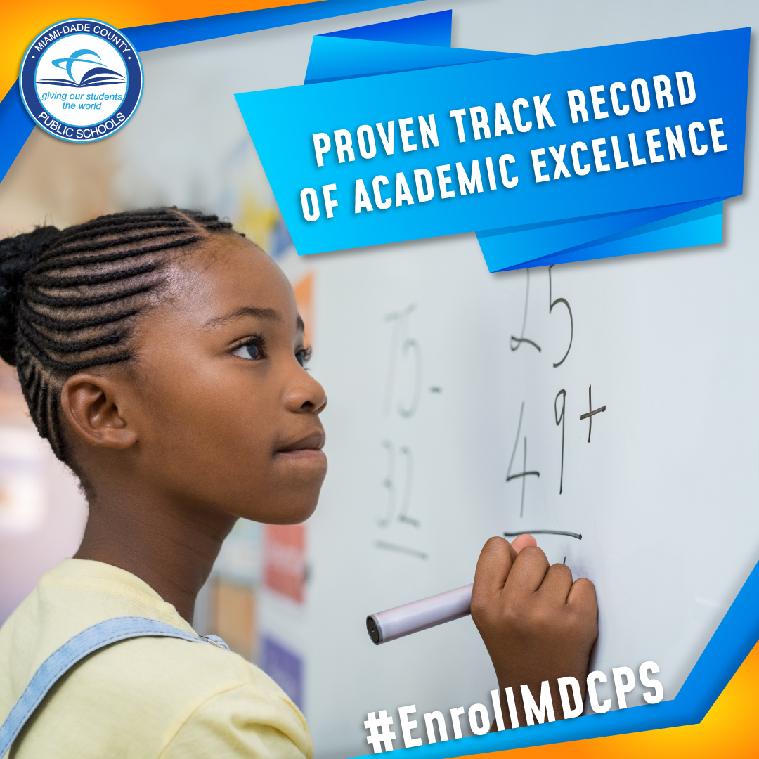 .@MDCPS has a proven track record of academic success. Enroll your child in one of our schools today! Find your neighborhood school at https://t.co/ENEzqvs5QS. #EnrollMDCPS https://t.co/qmY0Lo4TVs