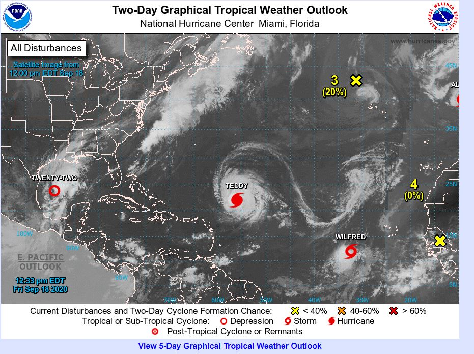 """We have now reached the end of the alphabet for the hurricane season in the Atlantic, """"Wilfred"""" is the latest named storm due to head towards the USA, but why so busy..it is all down to """"El Nina"""" more info here https://t.co/EANs2JfubR https://t.co/89HoixGP5C"""